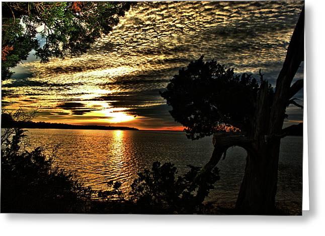 Pocasset Sunset Greeting Card