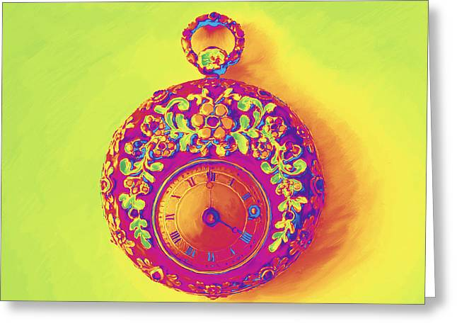 Pocket Watch 1830 Greeting Card
