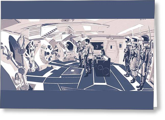 Pod Bay Greeting Card by Kurt Ramschissel