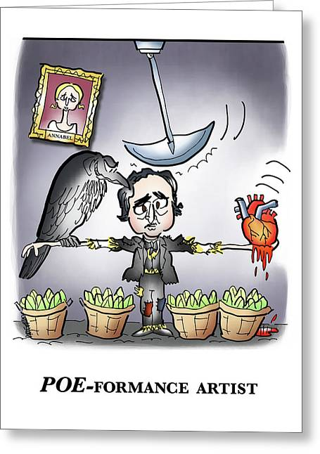 Poeformance Artist Greeting Card by Mark Armstrong