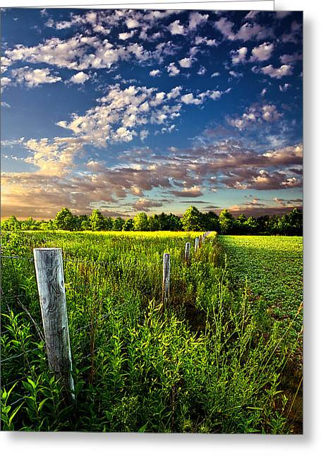 Poems Prayers And Promises Greeting Card by Phil Koch
