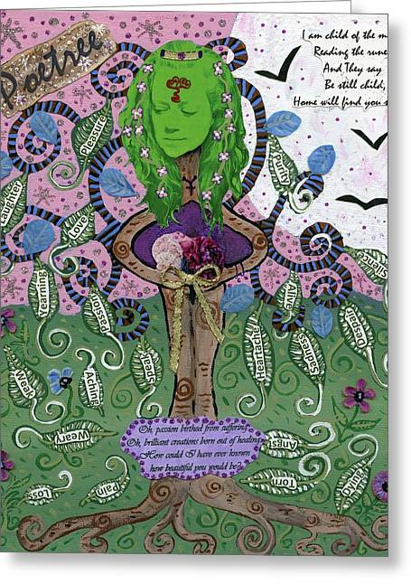 Poetree Greeting Card