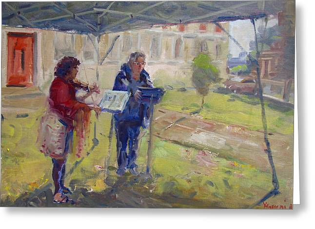 Poetry And Violin Greeting Card