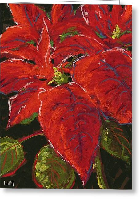Poinsettia Greeting Card by Mary McInnis