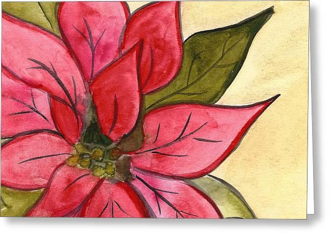 Poinsettia  Greeting Card