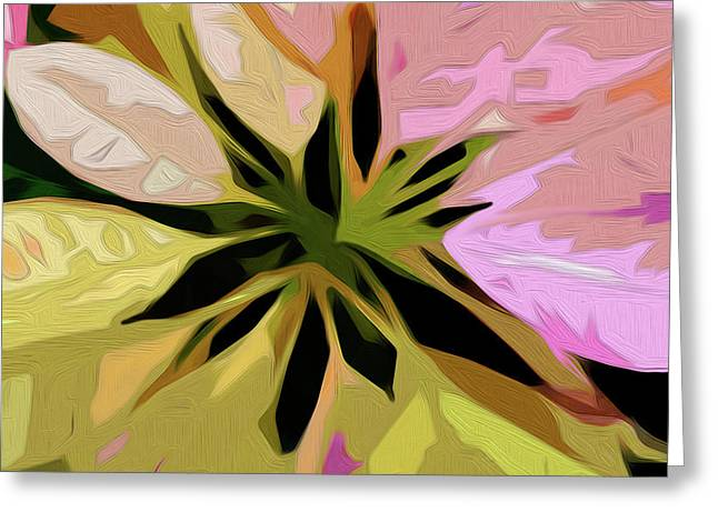 Greeting Card featuring the digital art Poinsettia Tile by Gina Harrison