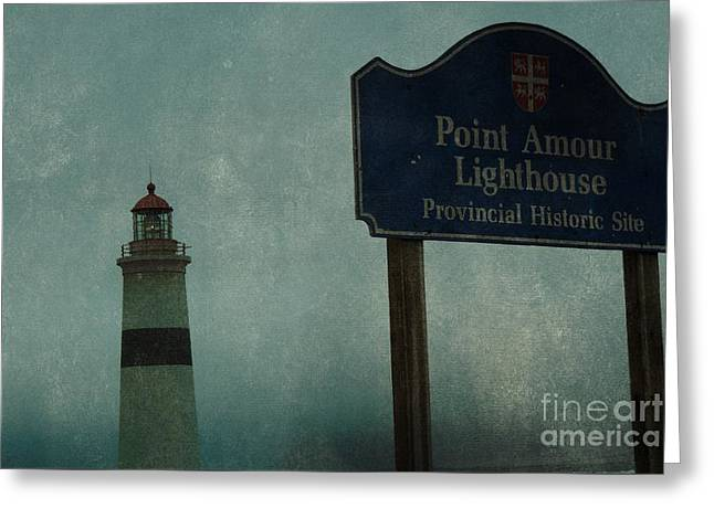 Point Amour Lighthouse, Newfoundland And Labrador, Canada Greeting Card