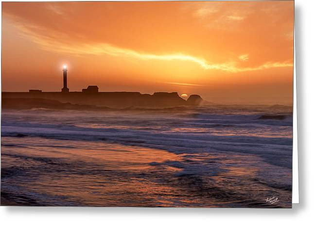 Point Arena Lighthouse Greeting Card by Leland D Howard