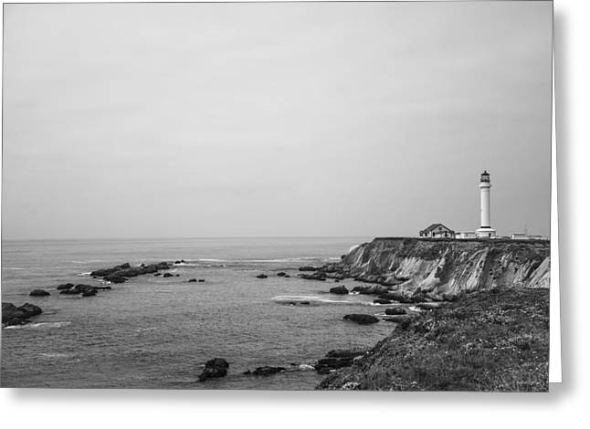 Point Arena Lighthouse Greeting Card by Ralf Kaiser