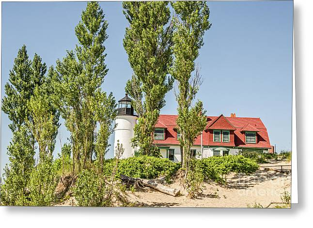 Greeting Card featuring the photograph Point Betsie Lighthouse by Sue Smith