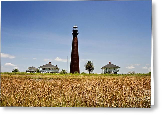 Point Bolivar Lighthouse Greeting Card by Scott Pellegrin