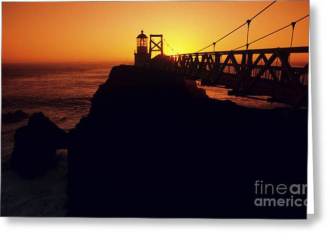 Point Bonita Lighthouse Greeting Card by Brent Black - Printscapes