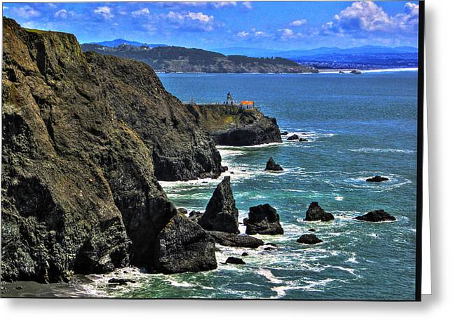 Greeting Card featuring the photograph Point Bonita Lighthouse by Richard Stephen