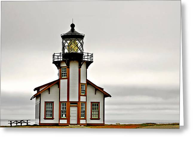 Point Cabrillo Lighthouse California Greeting Card by Christine Till