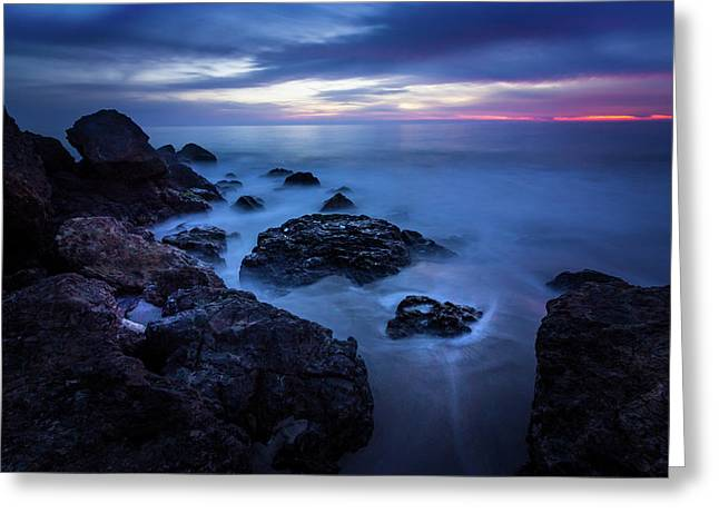 Point Dume Rock Formations Greeting Card