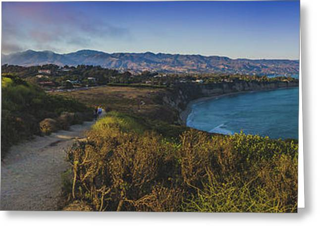 Point Dume Sunset Panorama Greeting Card
