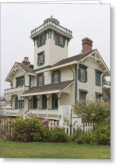 Light Beacon Greeting Cards - Point Fermin Lighthouse Greeting Card by Heidi Smith