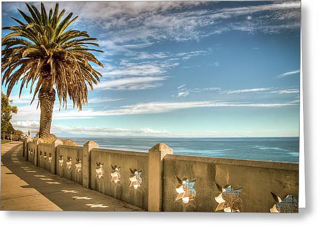 Point Fermin Walkway San Pedro California Greeting Card