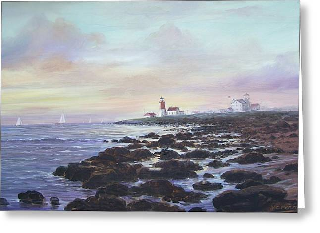 Point Judith Light R I Greeting Card