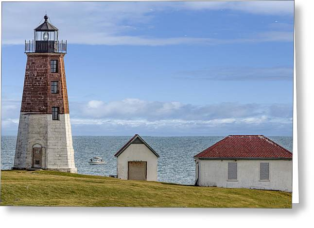 Point Judith Lighthouse Greeting Card by Capt Gerry Hare