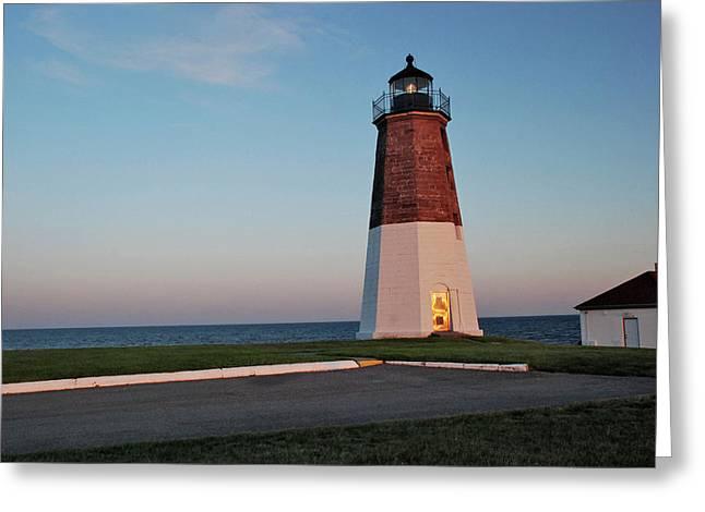Point Judith Lighthouse Rhode Island Greeting Card