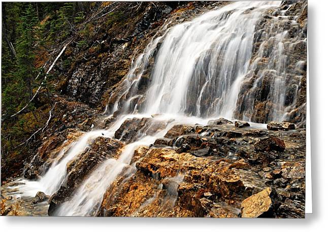 Point Lace Falls 1 Greeting Card by Larry Ricker