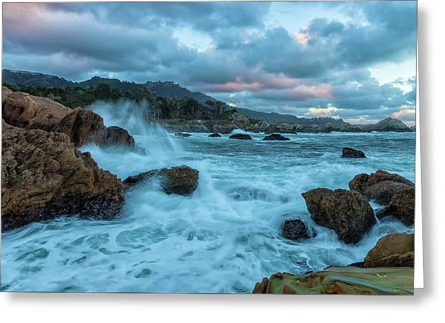 Point Lobos Coastline Greeting Card by Jonathan Nguyen