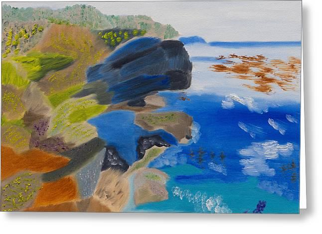Cliffs Of Point Lobos Ca Greeting Card by Meryl Goudey