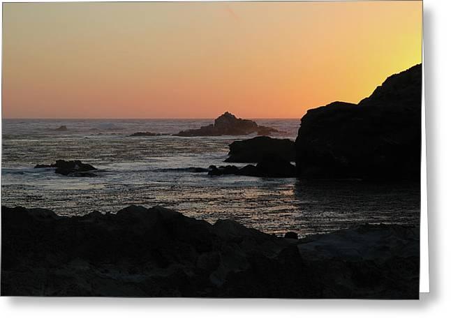 Point Lobos Sunset Greeting Card