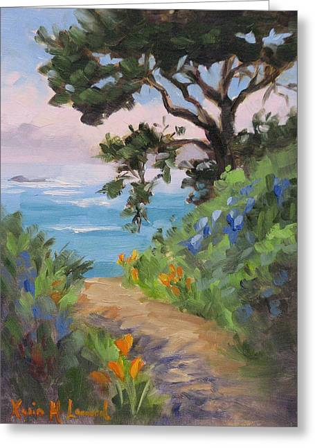 Point Lobos View Greeting Card by Karin Leonard