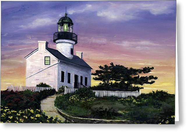 Point Loma Greeting Card by Lisa Reinhardt