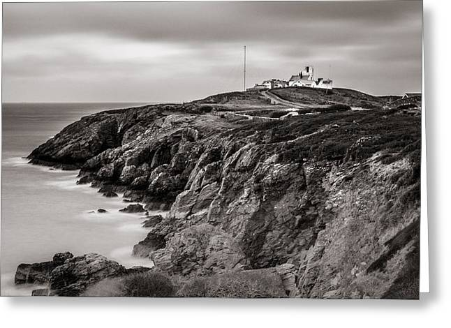 Point Lynas Lighthouse In Llaneilian On Anglesey Greeting Card