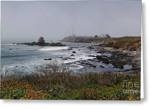 Greeting Card featuring the photograph Point Montara Lighthouse by David Bearden