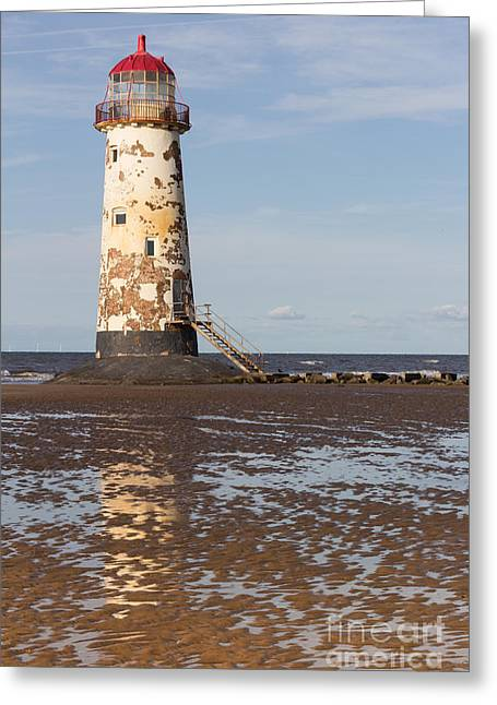 Point Of Ayr Lighthouse Greeting Card by Kathryn Bell