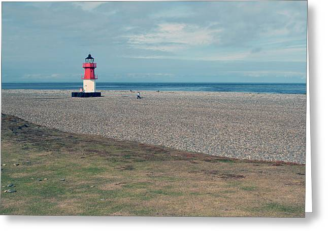 Point Of Ayre Greeting Card by Steve Watson
