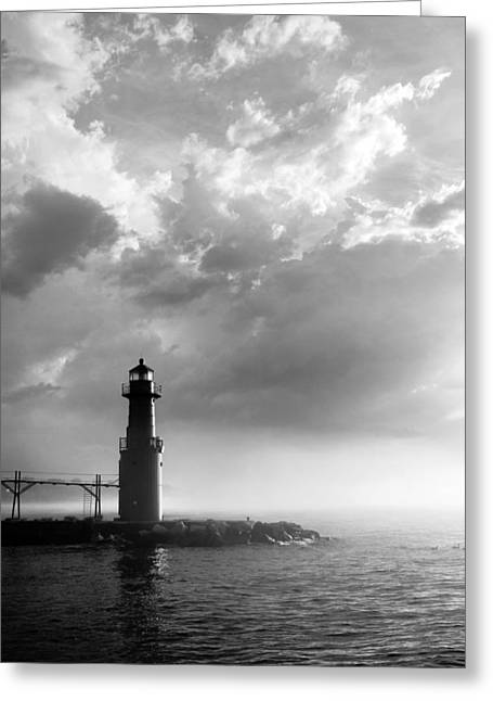 Light Grey Greeting Cards - Point of Inspiration Greeting Card by Bill Pevlor