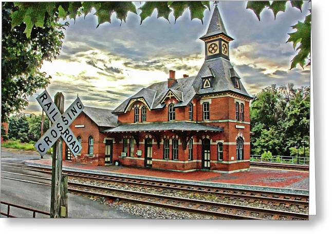Point Of Rocks Train Station Greeting Card