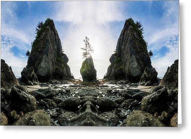 Point Of The Arches Reflection Greeting Card by Pelo Blanco Photo