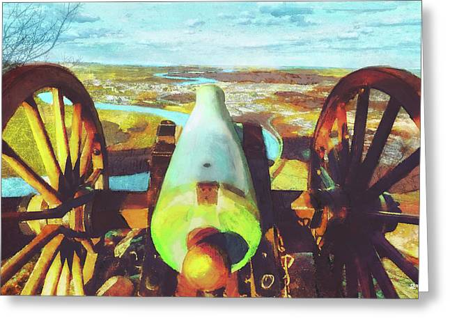 Point Park Cannon Greeting Card