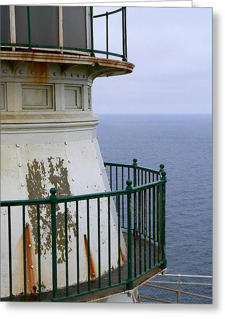 Point Reyes And The Pacific Ocean Greeting Card by Laurel Powell
