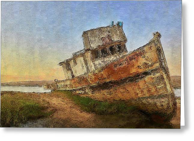 Point Reyes Boat Greeting Card