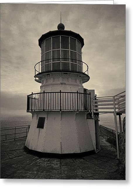 Point Reyes Lighthouse I Toned Greeting Card by David Gordon