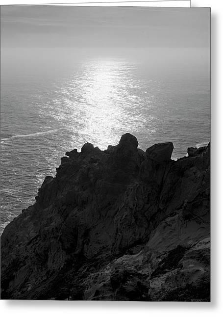 Point Reyes Seascape I Bw Greeting Card by David Gordon