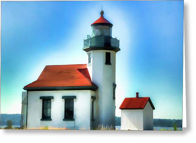 Point Robinson Lighthouse Greeting Card by Greg Sigrist