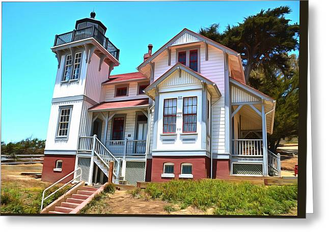 Greeting Card featuring the photograph Point San Luis Lighthouse by Floyd Snyder