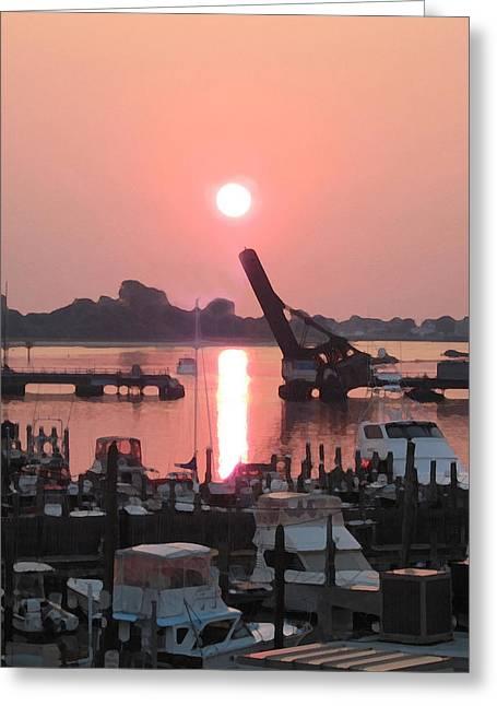 Point Sunrise Greeting Card by Paul Barlo