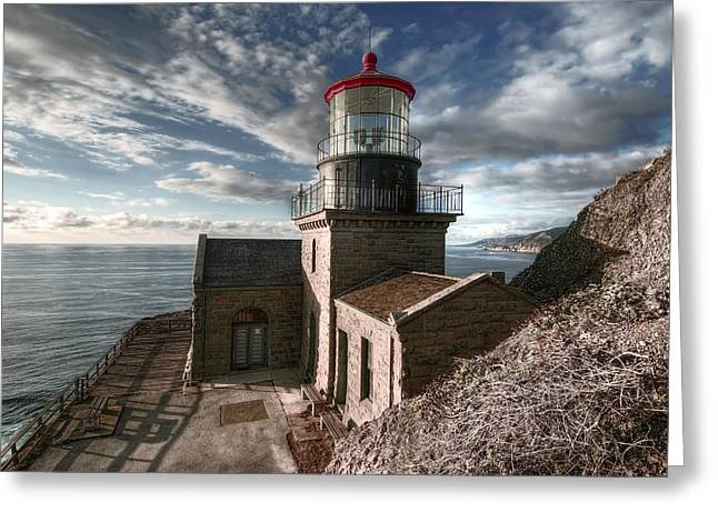 Point Sur Lighthouse - California  Greeting Card by Daniel Hagerman