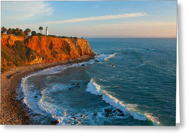 Point Vicente Lighthouse Palos Verdes California Greeting Card