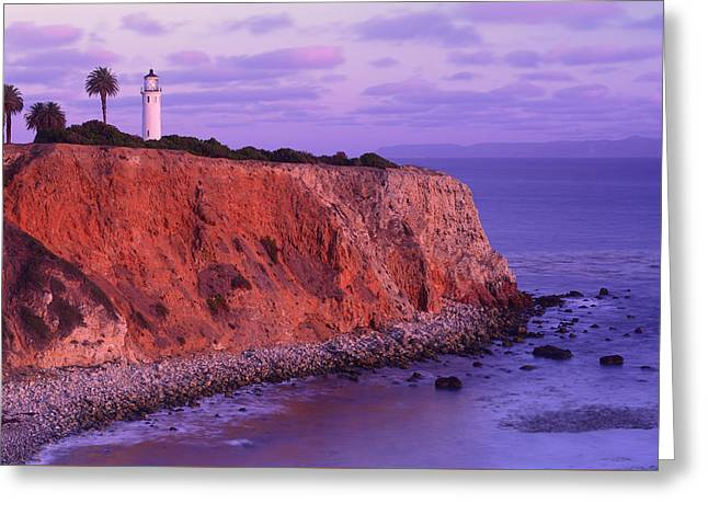 Greeting Card featuring the photograph Point Vicente Lighthouse - Point Vicente - Orange County by Photography By Sai