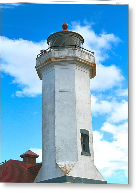 Point Wilson Light Close Up Greeting Card by Dan Sproul